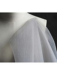 economico -Tulle Tinta unita Anelastico 140 cm larghezza tessuto per Nuziale venduto di il 0.45m