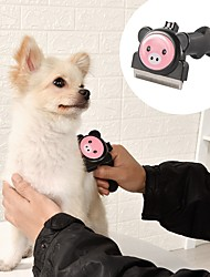 Недорогие -Грызуны Собаки Кролики Чистка Нержавеющая сталь ABS + PC Наборы для шерсти Расчески Мультфильмы Милые Кофейный Коричневый Розовый 1