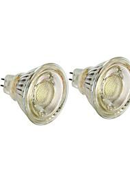 Недорогие -2pcs 3 W 280 lm MR16 Точечное LED освещение G45 1 Светодиодные бусины COB обожаемый Тёплый белый / Белый 12 V