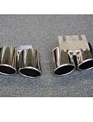 Недорогие -2pcs Советы по выхлопной трубе Cool Нержавеющая сталь Глушители выхлопа Назначение Audi A3 2017