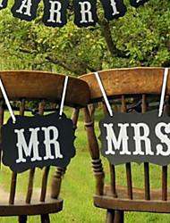 abordables -Accessoires & Signes Pour Photo Carton Décorations de Mariage Mariage Romance / Créatif / Mariage Toutes les Saisons