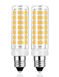 hesapli -2 adet e11 led ampul kısılabilir sıcak beyaz 3000 k ampuller 6 w 50 w 60 w halojen lamba eşdeğer mini şamdan tabanı ac110-120v için omni-yönlü 360 derece aydınlatma