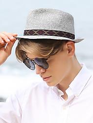Χαμηλού Κόστους -Άχυρο Ψάθινα καπέλα με Με σχέδια 1 τμχ Causal / ΕΞΩΤΕΡΙΚΟΥ ΧΩΡΟΥ Headpiece