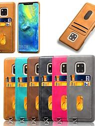halpa -Etui Käyttötarkoitus Huawei P20 lite / Honor 7A Korttikotelo / Iskunkestävä / Tuella Takakuori Yhtenäinen Kova PU-nahka varten Huawei P20 lite / Honor 7A / Huawei Mate 20 lite