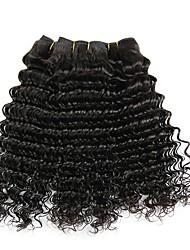 billige -4 pakker Brasiliansk hår Dyb Bølge Jomfruhår Menneskehår, Bølget Bundle Hair Én Pack Solution 8-28inch Naturlig Farve Menneskehår Vævninger Vandfald Lugtfri Anime Menneskehår Extensions Dame