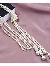 preiswerte -Damen Halskette Künstlerisch lieblich Weiß 40 cm Modische Halsketten Schmuck 1pc Für Alltag