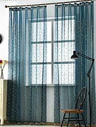 abordables -Moderno Transparente Un Panel Transparente Sala de estar   Curtains