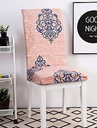levne -Potah na židli Květinový / Tisk Barvená příze / S potiskem Polyester potahy