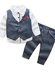 זול -סט של בגדים שרוול ארוך אחיד בנים ילדים