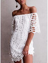 baratos -vestido de mini turno feminino fora do ombro vinho branco preto s m l xl
