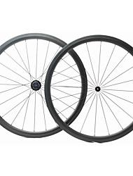 Недорогие -FARSPORTS 700CC Колесные пары Велоспорт 23 mm Шоссейный велосипед Углеродное волокно Однотрубка 20/24 Спицы 38 mm