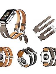 voordelige -Horlogeband voor Apple Watch Series 4/3/2/1 Apple Sportband Echt leer Polsband