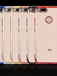 זול -מגן עבור Xiaomi Mi 9 / Mi 5X ציפוי כיסוי אחורי שקוף רך TPU ל Xiaomi Mi Max 3 / Xiaomi Mi Mix 2 / Xiaomi Mi Mix 2S