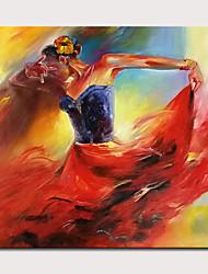 Недорогие -mintura&рег; Большой размер ручная роспись девушка рисунок маслом на холсте современные абстрактные стены искусства картины для украшения дома не в рамке