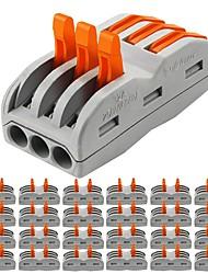 Недорогие -zdm® 25шт 3-полосная лампа для аксессуаров& металлический электрический разъем для светодиодной ленты