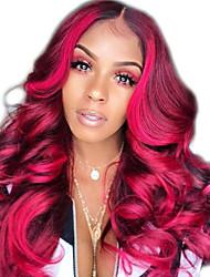 Χαμηλού Κόστους -Συνθετικές Περούκες Κατσαρά Ίσια Στυλ Μέσο μέρος Χωρίς κάλυμμα Περούκα Κόκκινο Σκούρο κόκκινο Συνθετικά μαλλιά 12 inch Γυναικεία Γυναικεία Κόκκινο Περούκα Μακρύ Φυσική περούκα
