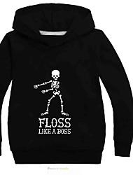 abordables -Enfants Garçon Actif / Basique Imprimé Manches Longues Coton / Spandex Pull à capuche & Sweatshirt Gris