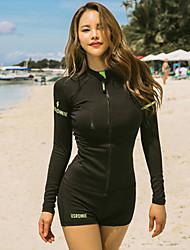 halpa -JIAAO Naisten Rashguard-uimapuku Uima-asut UV-aurinkosuojaus Tuulenkestävä Pitkähihainen 3-osainen - Uinti Sukellus Yhtenäinen Syksy Kevät Kesä / Elastinen