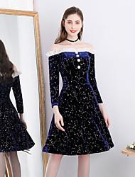 tanie -Krój A Z odsłoniętymi ramionami Do kolan Jedwab Sukienka z Ozdoby z pereł przez TS Couture®