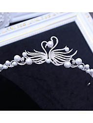 cheap -Alloy Tiaras with Faux Pearl 1 Piece Wedding / Birthday Headpiece