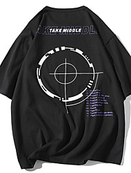 economico -T-shirt Per uomo Con stampe, Fantasia geometrica / Pop art / Alfabetico Bianco XL