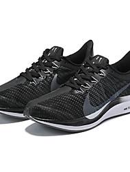 hesapli -Erkek Ayakkabı Elastik Kumaş İlkbahar yaz Atletik Ayakkabılar Koşu Atletik için Siyah ve Beyaz