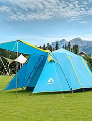 Недорогие -Hewolf 5 человек Семейный кемпинг-палатка На открытом воздухе С защитой от ветра Дожденепроницаемый Пригодно для носки Двухслойные зонты Карниза Палатка >3000 mm для