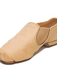 olcso -Női Jazz cipők Bőr Lapostalpú Lapos Dance Shoes Fekete / Mandula