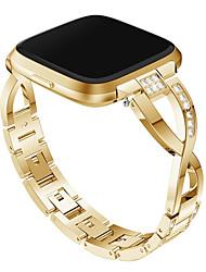 Недорогие -Ремешок для часов для Fitbit Versa / Fitbit Versa Lite Fitbit Дизайн украшения Металл / Нержавеющая сталь Повязка на запястье