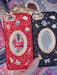 baratos -Capinha Para Apple iPhone X / iPhone XS Max Espelho / Glitter Brilhante Capa traseira Glitter Brilhante Rígida PC para iPhone XS / iPhone XR / iPhone XS Max