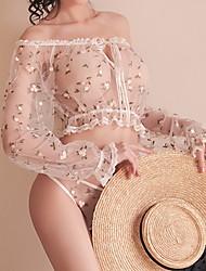 رخيصةأون -نسائي ستيان متطابقة ملابس نوم طباعة, ورد
