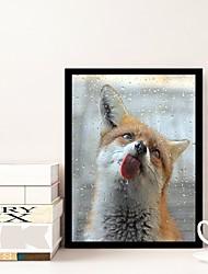 Недорогие -Абстракция Декор стены Нетканые / Поли уретан Животные Предметы искусства, Алмазная Живопись Украшение