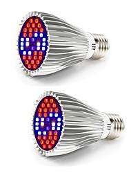 billiga -2pcs 30 W 800-1200 lm 40 LED-pärlor Fullt Spektrum För växthus Hydroponic Växande ljusarmatur Vit Röd Blå 85-265 V