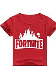 お買い得  -子供 男の子 ストリートファッション プリント プリント 半袖 ポリエステル Tシャツ ピンク