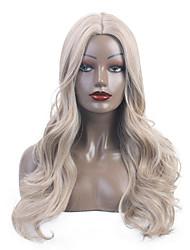 ieftine -Peruci Sintetice / Țesătură / Ombre Buclat / Ondulee Naturale Stil Partea centrală Fără calotă Perucă Blond Auriu Deschis Păr Sintetic 24 inch Pentru femei sintetic / nou / Partea Mijlocie Blond