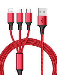 Недорогие -KawBrown USB 2.0 Кабель-переходник, USB 2.0 к USB 3.0 Тип C / Micro USB 2.0 / Lightning Кабель-переходник Male - Male 1.2m (4FT)