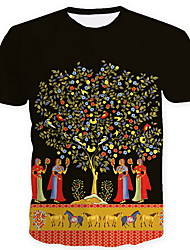 economico -T-shirt Per uomo Pop art Nero XL