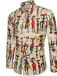 Недорогие -Муж. С принтом Рубашка Графика Цвет радуги XXXL