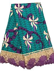 Недорогие -Африканское кружево Цветы Вышивка 125 cm ширина ткань для Одежда и мода продано посредством 6Yard