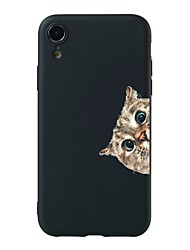 abordables -Coque Pour Apple iPhone XR / iPhone XS Max Motif Coque Chat Flexible TPU pour iPhone XS / iPhone XR / iPhone XS Max