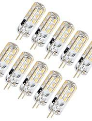 Недорогие -10 шт. 1.5 W Двухштырьковые LED лампы 130 lm G4 T 24 Светодиодные бусины SMD 3014 Милый Тёплый белый Холодный белый 12 V