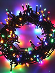 Недорогие -10 м Гирлянды 50 светодиоды 1 монтажный кронштейн Тёплый белый / Холодный белый / RGB Водонепроницаемый / Работает от солнечной энергии / Для вечеринок Солнечная энергия 1 комплект