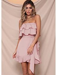 levne -Dámské Elegantní A Line Šaty - Jednobarevné Mini