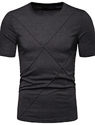 abordables -Hombre Camiseta Un Color Negro L