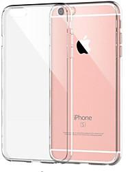Недорогие -Кейс для Назначение Apple iPhone 8 Pluss / iPhone 8 / iPhone 7 Plus Защита от удара / Прозрачный Кейс на заднюю панель Однотонный Мягкий ТПУ