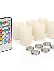 Недорогие -новинка 6pc вела беспламенные свечи с аккумулятором& Пульт дистанционного управления для дома decoartion вечеринка свадьба Рождество