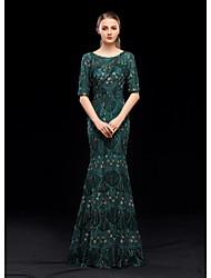 economico -A sirena Con decorazione gioiello Lungo Con strass Vestito con Lustrini / Ricamo di LAN TING Express