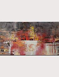 billige -styledecor håndmaleri abstrakt rød og svart kniv oljemaleri for hjemmebruk