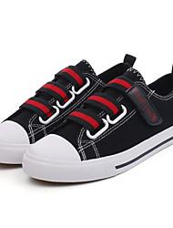 Недорогие -Муж. Комфортная обувь Полотно Осень Кеды Черно-белый / Черный / Красный