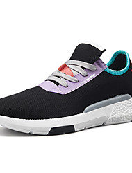 cheap -Men's Fashion Boots Tissage Volant Spring & Summer Casual / Preppy Athletic Shoes Running Shoes / Walking Shoes Breathable Booties / Ankle Boots Color Block Black / Gold / Black and White / Black